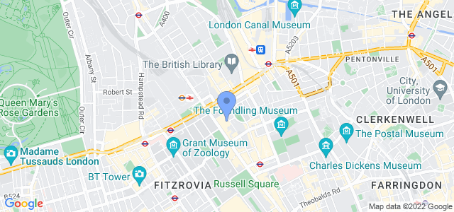 Map of BMA House, London, WC1H 9JR
